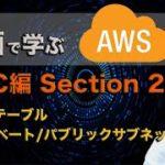 動画で学ぶAWS講座 VPC編 【section2】 ルートテーブル, プライベートサブネット, パブリックサブネット