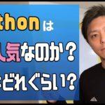 Pythonはなぜ人気なのか?平均年収はどれぐらい?